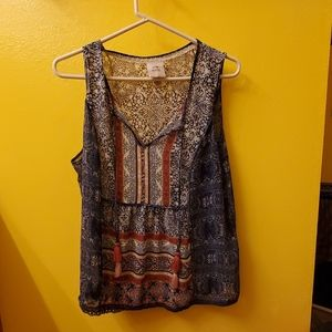 Light weight sleeveless blouse
